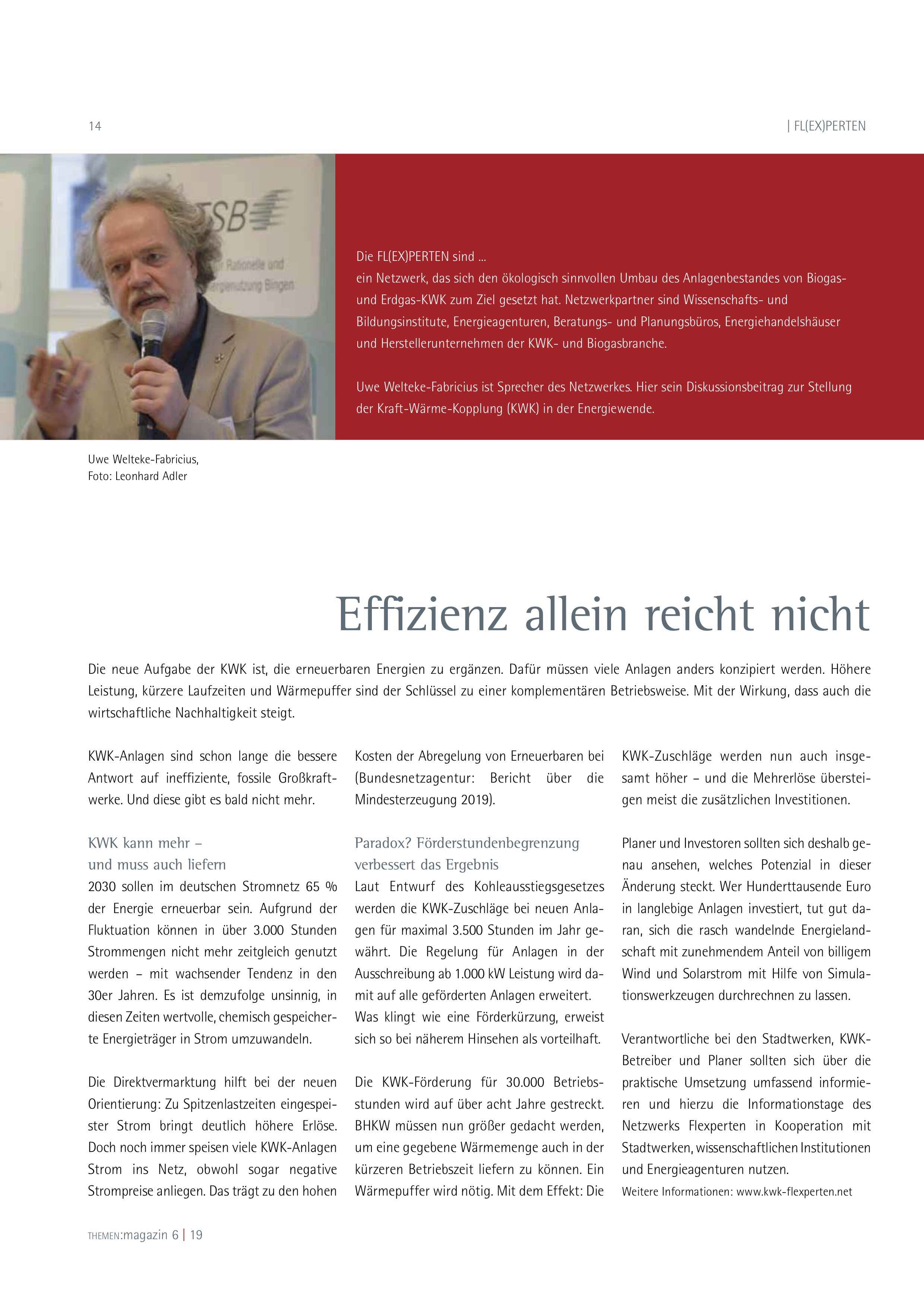 FL(EX)PERTEN Uwe Welteke-Fabricius